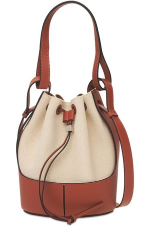 Loewe Women Shoulder Bags - Small Canvas & Leather Balloon Bag