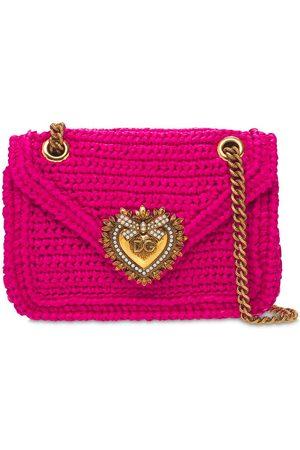 Dolce & Gabbana Mini Devotion Crochet Shoulder Bag