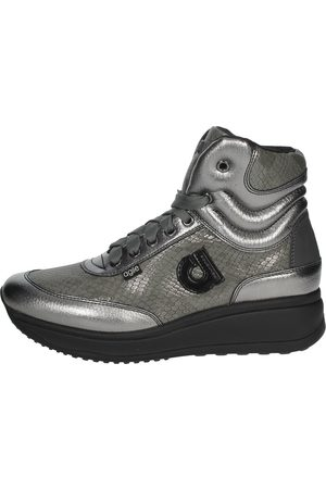 AGILE BY RUCOLINE Sneakers Women Anthracite Pelle Sintetico