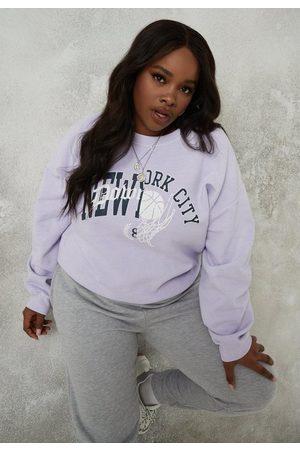 Missguided Plus Size Nyc Brushed Back Sweatshirt