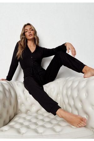 Missguided Women Sweats - Button Through Loungewear Romper