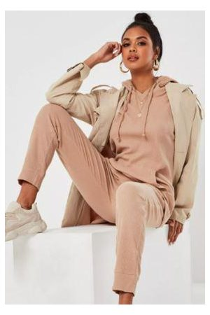 Missguided Waffle Texture Oversized Loungewear Set