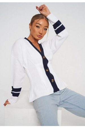 Missguided Colorblock Cinched Waist Cardigan