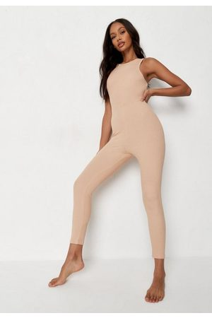 Missguided Rib Racer Neck Loungewear Romper