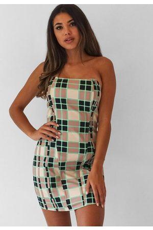 Missguided Plaid Corset Mini Dress
