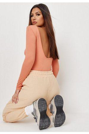 Missguided Women Bodies - Terracotta Extreme Scoop Back Bodysuit