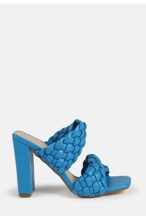 Missguided Woven Twist Block Heeled Sandals