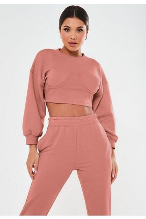 Missguided Women Corsets - Petite Dark Corset Sweatshirt