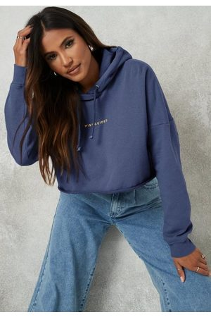 Missguided Washed Washed Back Cropped Hoodie