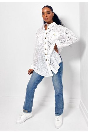 Missguided Broderie Extreme Oversized Shirt