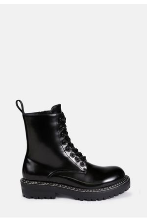 Missguided Sole Stitch Lace Up Chelsea Boots
