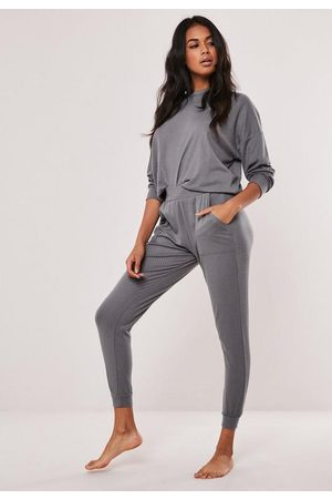 Missguided Rib Soft Touch Loungewear Set