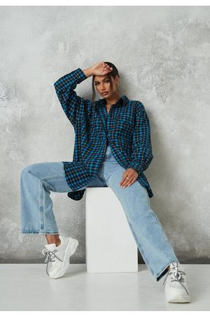 Missguided Plaid Extreme Oversized Shirt