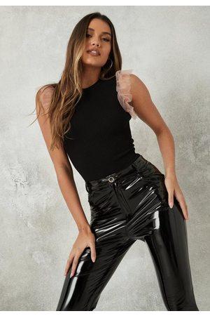 Missguided Women Bodies - Ruffle Sleeve Knit Bodysuit