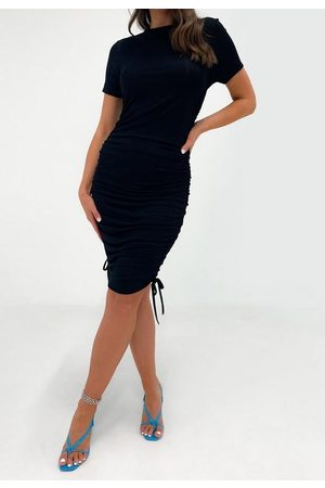 Missguided Crew Neck Ruched Mini Dress