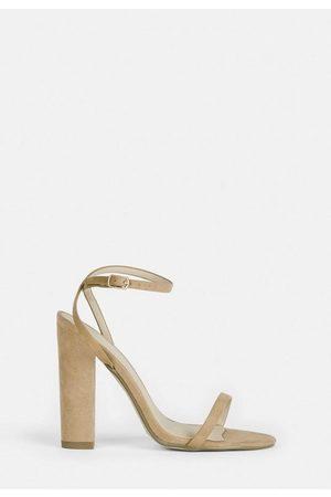 Missguided Women Sandals - Faux Suede Heel Sandals