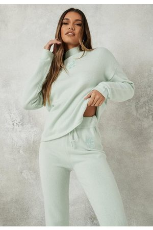 Missguided Co Ord Msgd High Neck Oversized Knit Sweater