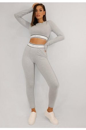 Missguided Gray Waistband Loungewear Leggings