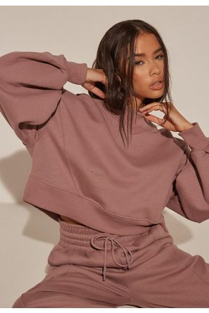 Missguided Re_Styld Seam Front Cropped Sweatshirt