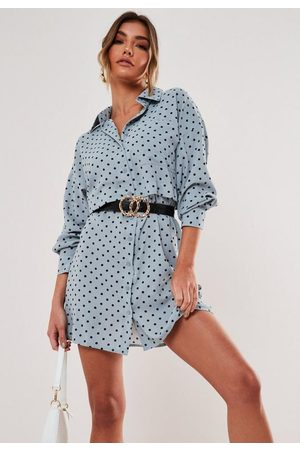 Missguided Polka Dot Utility Shirt Dress
