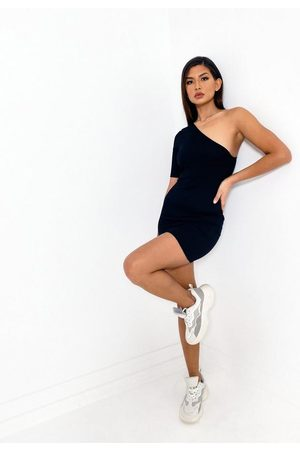 Missguided Women Party Dresses - Recycled Rib One Shoulder Mini Dress