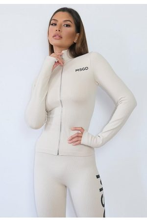 Missguided Msgd Seamless Rib Gym Jacket