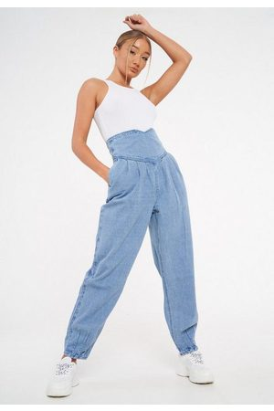 Missguided Tall High Waisted Corset Balloon Jeans