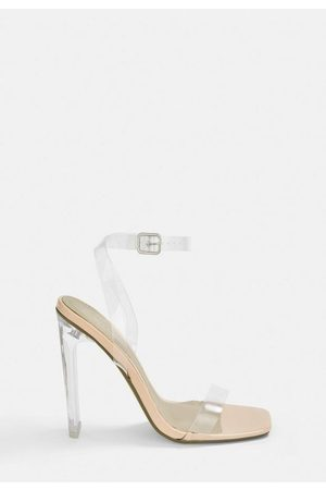 Missguided Square Toe Clear Heels