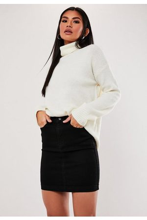 Missguided Tall Denim Superstretch Mini Skirt
