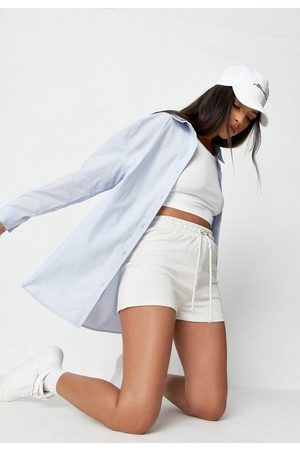 Missguided Blue Linen Look Extreme Oversized Shirt