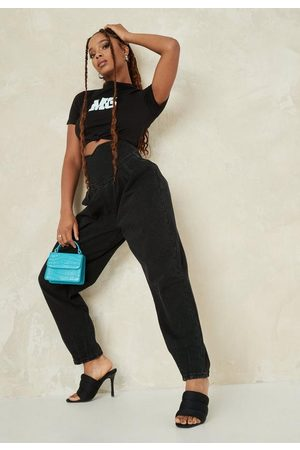 Missguided High Waisted Corset Balloon Jeans
