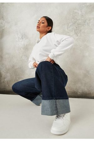 Missguided Women Boyfriend Jeans - Recycled Tall Deep Turn Up Hem Baggy Boyfriend Jeans