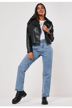 Missguided Light High Waisted Boyfriend Jeans