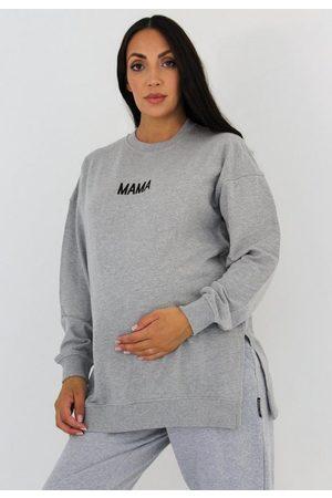 Missguided Gray Maternity Mama Sweatshirt