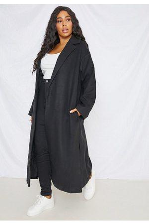 Missguided Plus Size Split Side Formal Midaxi Coat