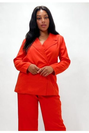 Missguided Plus Size Co Ord Tie Side Blazer