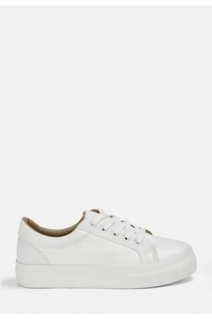 Missguided Faux Leather Flatform Sneakers