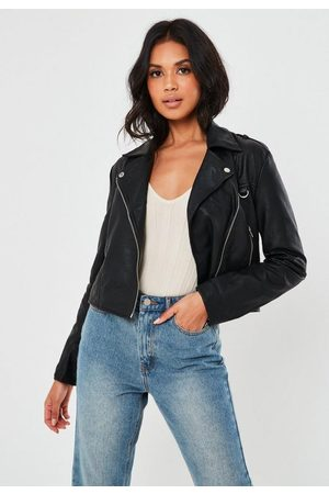 Missguided Petite Ultimate Boxy Faux Leather Biker Jacket