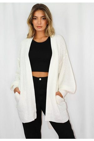 Missguided Belted Balloon Sleeve Oversized Knit Cardigan
