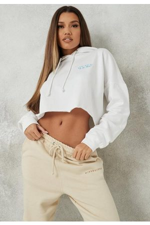 Missguided Nice To Be Nice Brushed Back Extreme Oversized Cropped Hoodie