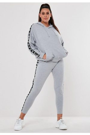 Missguided Plus Size Active Gray Co Ord Msgd Loungewear Leggings