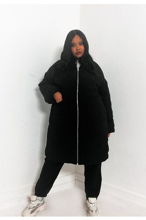 Missguided Plus Size Quilted Longline Oversized Coat