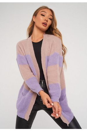 Missguided Tall Lilac Oversized Colourblock Cardigan