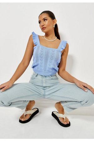 Missguided Tall Frill Sleeve Knit Crop Top