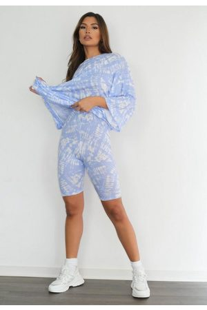 Missguided Petite Tie Dye T Shirt And Cycling Shorts Co Ord Set