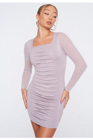 Missguided Knit Ruched Front Mini Dress