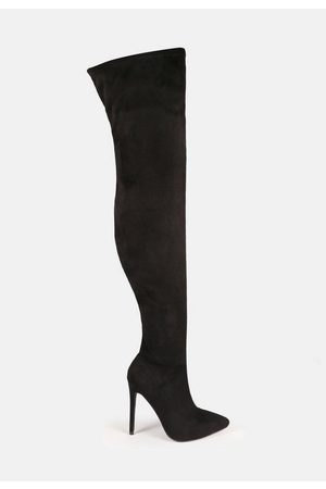 Missguided Faux Suede Stiletto Over The Knee Boots