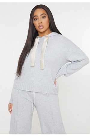 Missguided Plus Size Gray Co Ord Boxy Hoodie