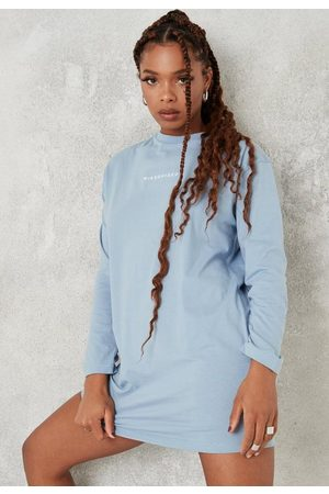 Missguided Long Sleeve T Shirt Dress