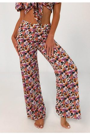 Missguided Floral Print Beach Cover Up Pants